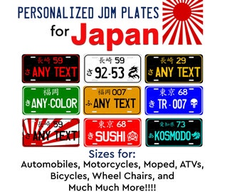 your style Accessory Novelty Black License Plate Frame Custom JDM Your Text