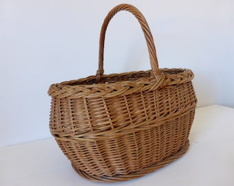 Vintage French, Market, Gathering, Basket, Home Decor