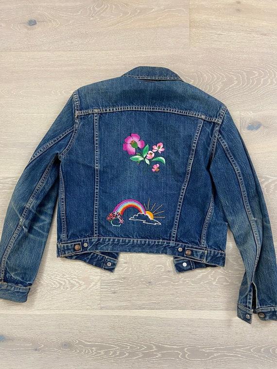 Vintage 60's ~ 70's GWG denim jacket // Hand Embro