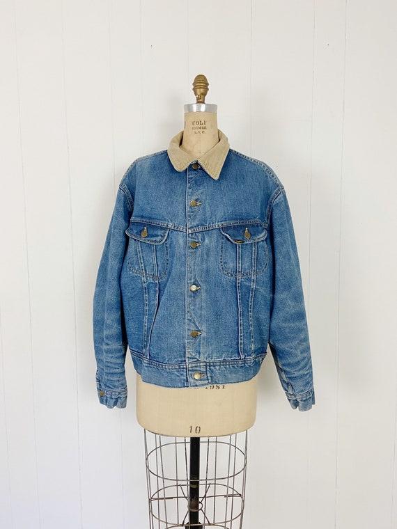 Vintage 70's Lee Storm Rider Denim Blanket Coat