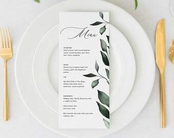 Printed   Place Card / Menu
