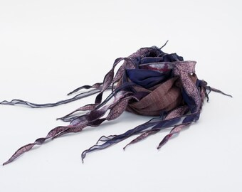 Foulard PHYLAD - Taupe sur violet