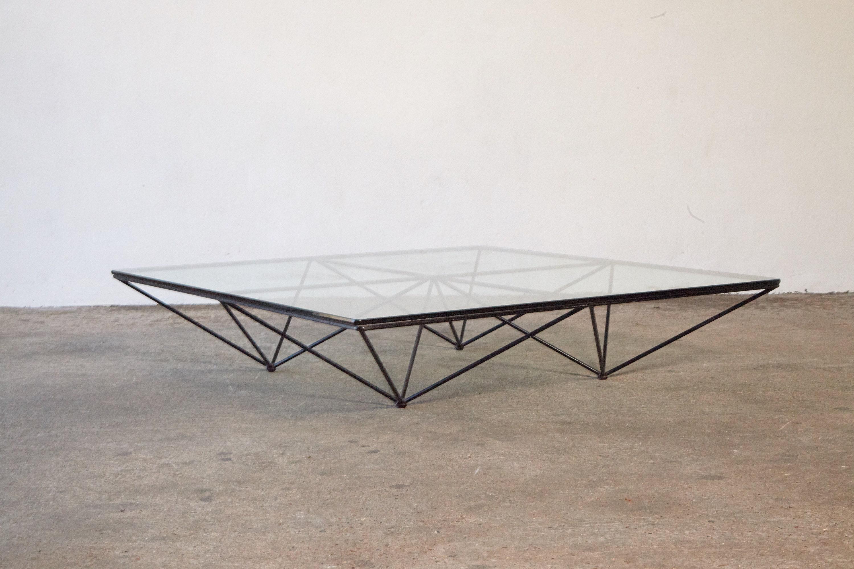Paolo Piva Alanda Geometric Glass Coffee Table For B B Italia Etsy