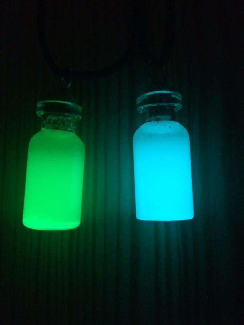 Glowing Pendant Glow in the dark jewelry unisex necklace glow necklace Glow bottle necklace Glow in the dark necklace glowing necklace