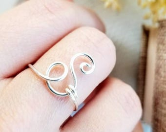 Initial Ring | Custom Ring | Initial Jewelry | Personalized Ring | bridesmaid gift | Gift for Her | Gift for Mom | Gift for Wife | Sterling