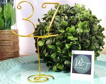 Wire numbers - Rustic Wedding - Guest table numbers with stand -  Wedding table decor - Wedding decor - Wire table numbers - ©