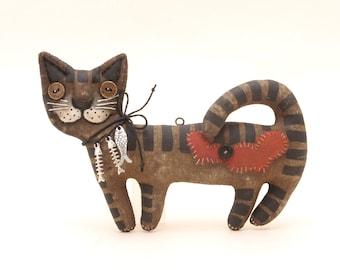 PDF Pattern Primitive Cat Halloween Decor Gift Pattern Primitive Doll