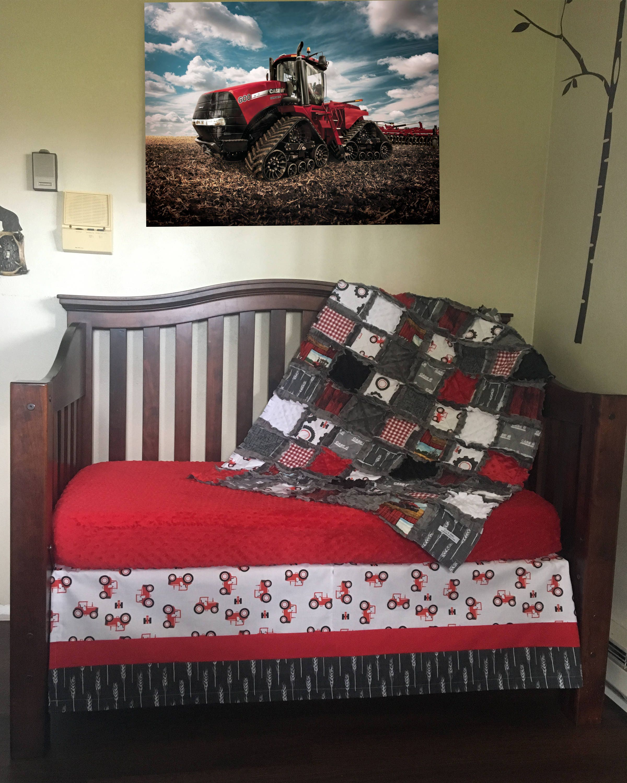 Case IH Red Baby Blanket