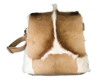 51677be20a Real Leather Messenger Shoulder Man Bag with Springbok Fur  (1112-SCB-MD-G01) L26