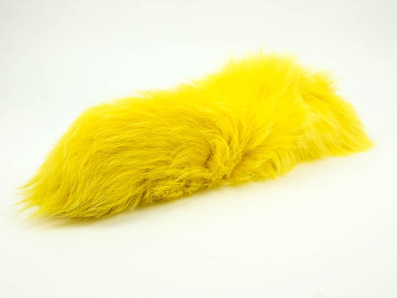 18-05-PP Premium Dyed Purple Fox Tail L11 Keychain optional