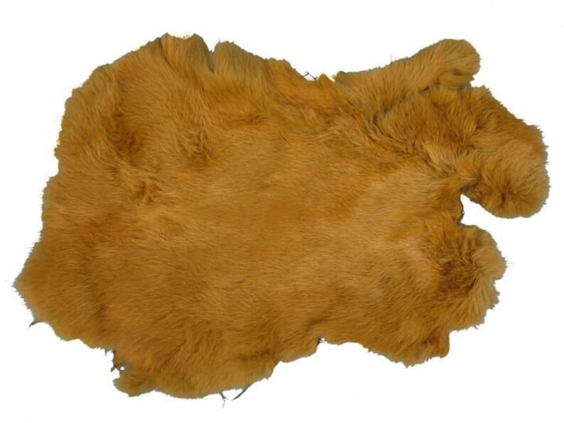 Rabbit Skin Better Grade Dyed Golden Brown 134-050 L7