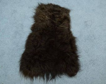 Dyed Icelandic Sheepskin: BlackY Brown(7-102-G22)