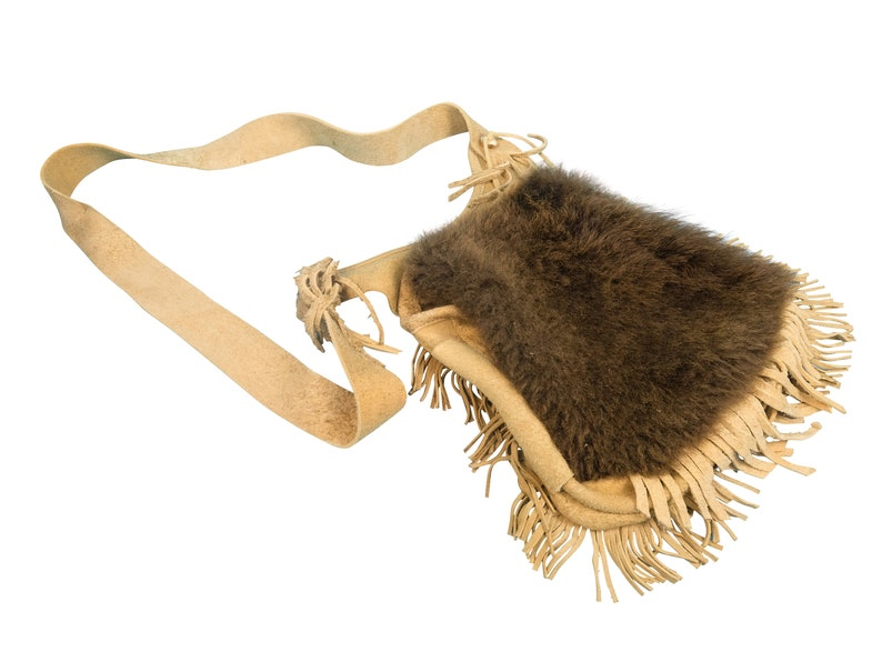 ed59beffb8 Real Buffalo Fur Bag with Brain Tanned Leather Made in USA