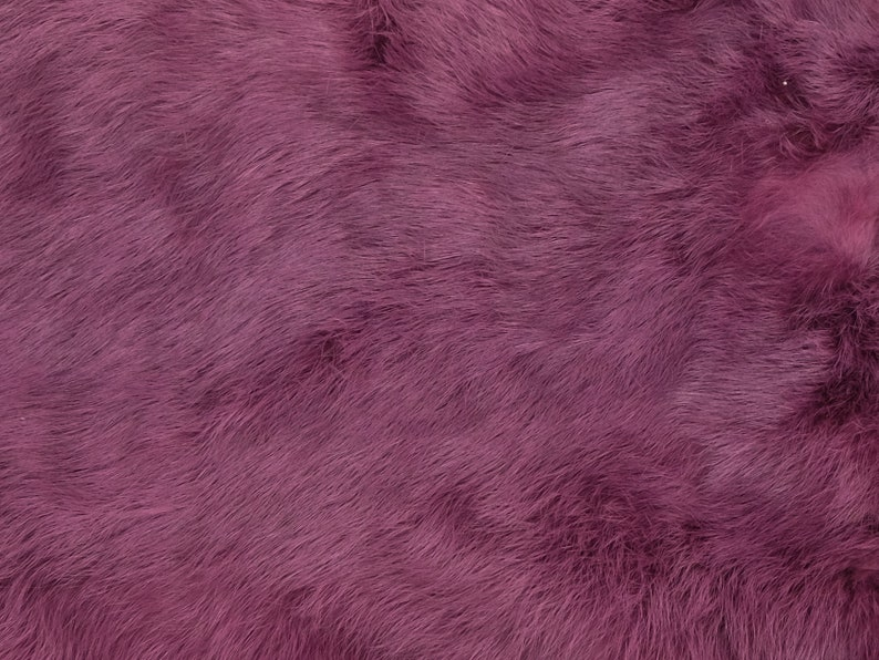 Dyed Premium Grade Spanish Rabbit Skin 188-D-18 L29 Light Purple