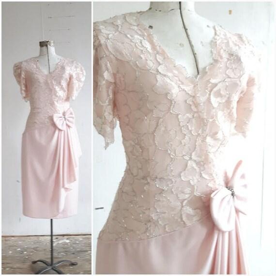 Vintage Wedding Dresses Canada: Vintage Blush Pink Bridesmaid Dress Pastel Bridesmaid