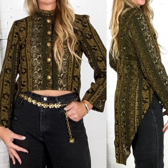 Vintage Tapestry Jacket, Jacket with tails
