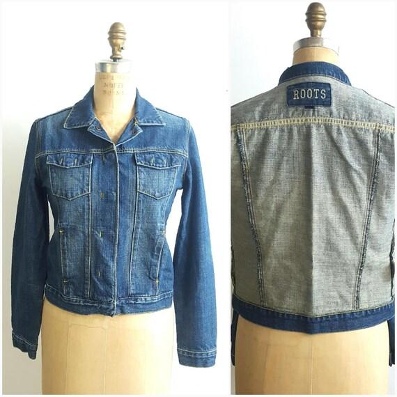 ROOTS Jean Jacket, Size S/M, women jean jacket, cl
