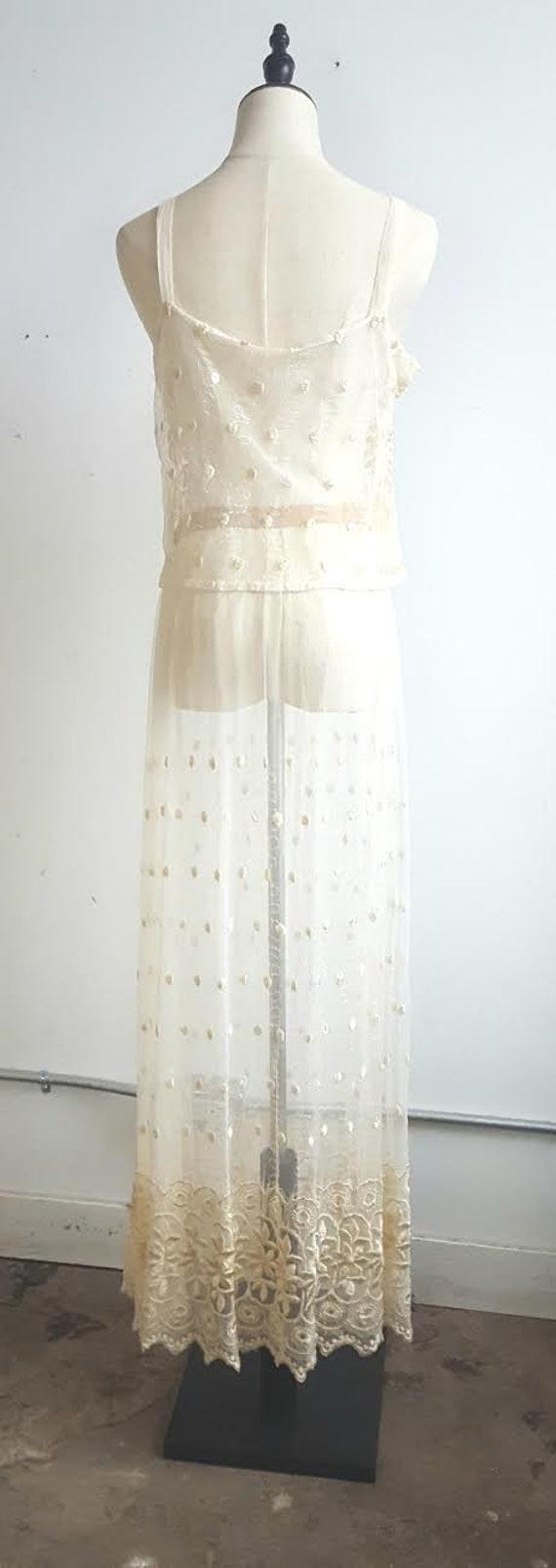 Vintage 2 Piece Lace Bridal Set, Bridal lingerie'… - image 7