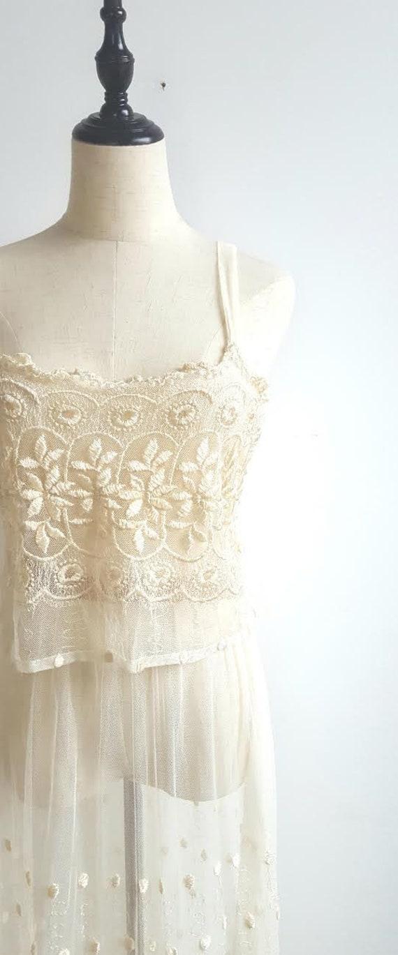 Vintage 2 Piece Lace Bridal Set, Bridal lingerie'… - image 8