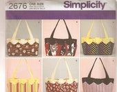 Simplicity Sewing Pattern 2676 - Bags - Purses - Quilted Handbags - Fashion Accessories - Accessories