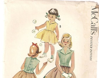 VINTAGE McCall's Sewing Pattern 8927 - Children's Clothes - Girl's Dress, Size 8