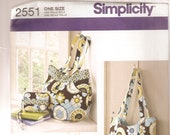 Simplicity Sewing Pattern 2551- Bags - Purses - Wallets - Quilted Handbags - Fashion Accessories - Accessories