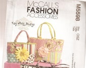 McCall 39 s Fashion Accessory Pattern 5598 - Totebags- Quilted Handbags - Accessories