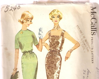 VINTAGE McCall's Sewing Pattern 5240 - Women's Clothes - Dress, Size 14
