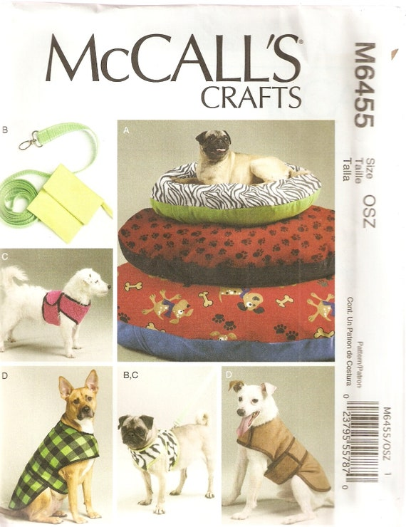 McCall Nähen Muster M6455 Haustiere Hunde Handwerk | Etsy