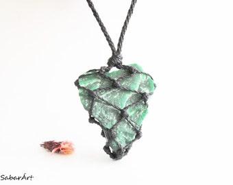 Jade necklace, raw jade necklace, Jadeite, raw green jade necklace, jade pendant, Imperial Jade, jade jewelry, emerald green