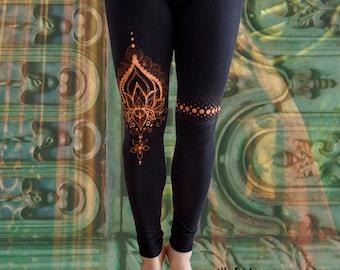 bleached Yoga/Goa Leggings LOTUS