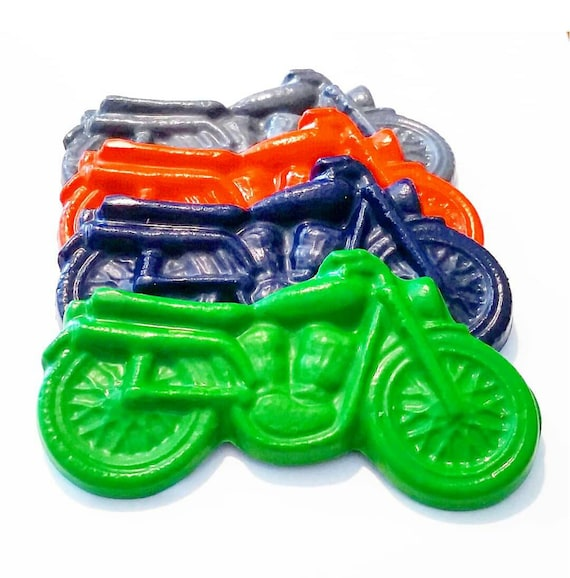 Motorcycle Party Favors Bike Crayons Motorcycle Crayons set of 5 Bike Birthday Party Motorcycle Gifts Motorcycle Birthday Party