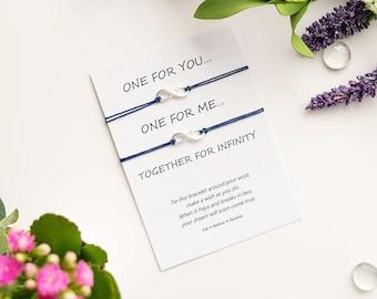 Infinity Wish Bracelet - Infinity String Bracelet - Love Island Infinity Bracelet - Infinity Charm Bracelet - Valentines Couple Gift Love