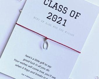 Class of 2021 Wish bracelet - Graduation string bracelet - Graduation charm bracelet - Class of 2021 - Graduation Gift - Student Gift
