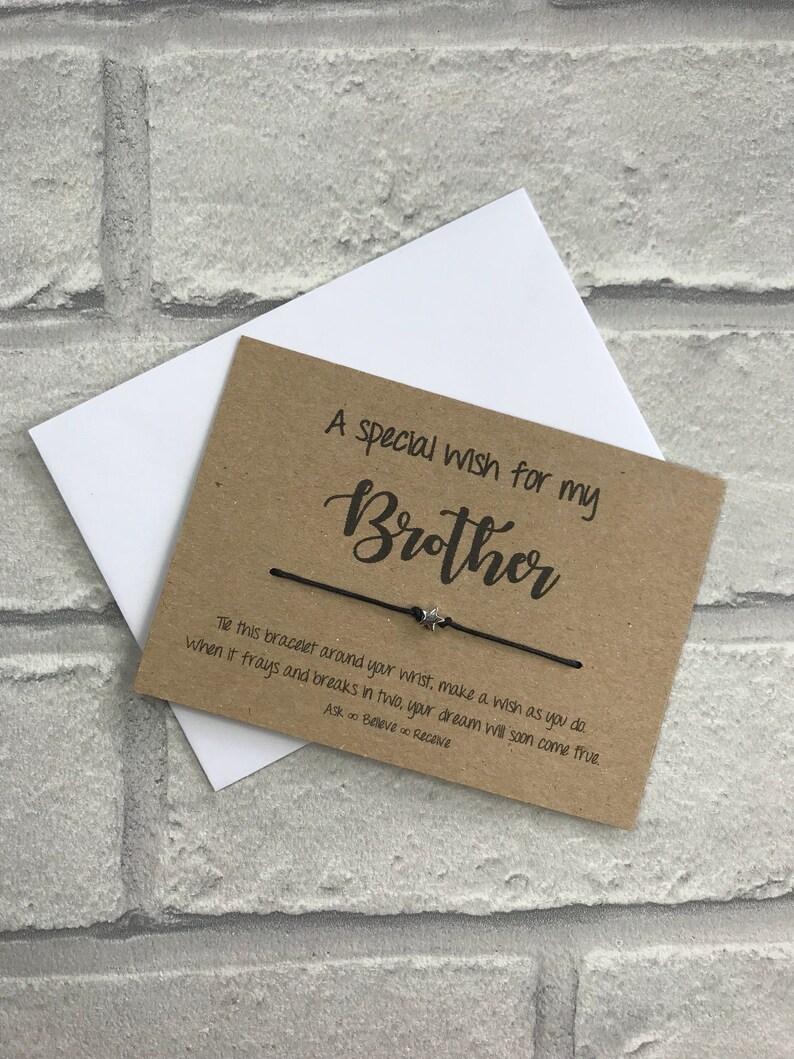 Auguri Matrimonio Per Un Fratello : Un augurio speciale per mio fratello string fascino bracciale etsy
