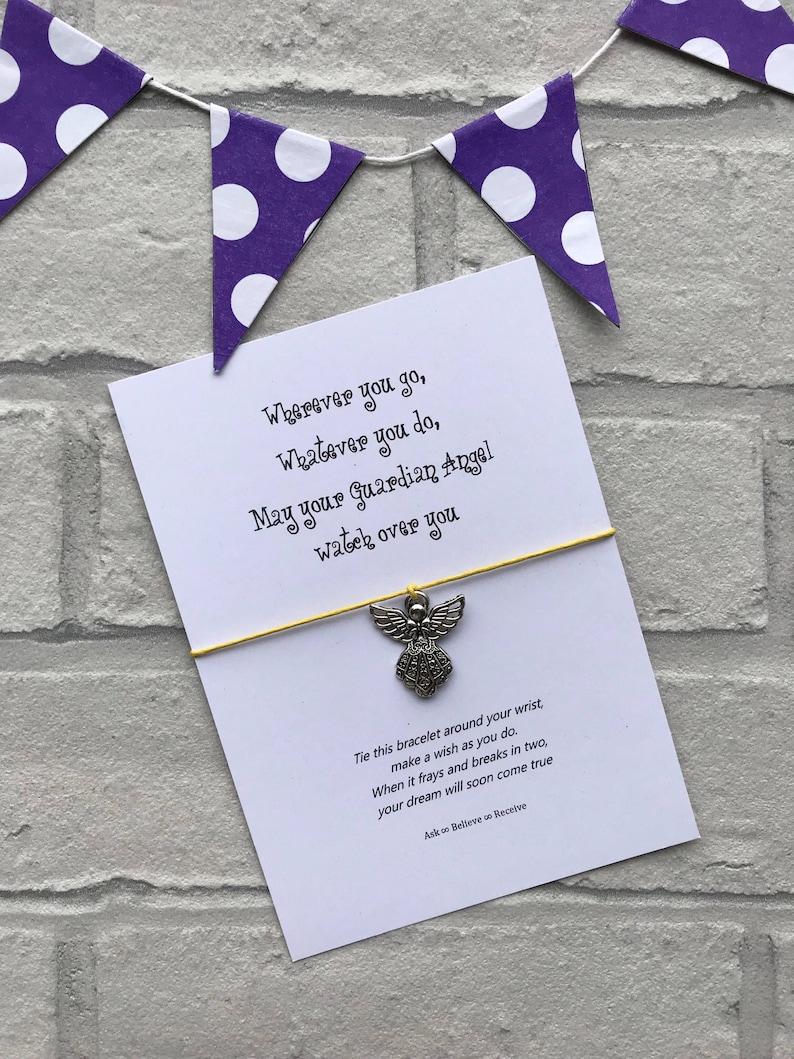 Guardian Angel Wish String Bracelet Wherever You Go Whatever Etsy