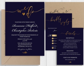Glitter Invitation Set