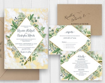 Marble Invitation Set