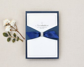 ribbon invitation artepapery
