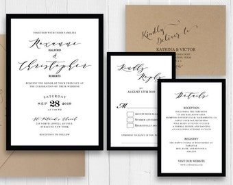 Calligraphy Invite Set