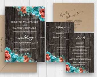 Rustic Invitation Set