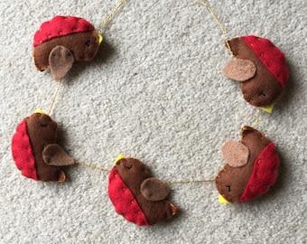 Mini robin garland