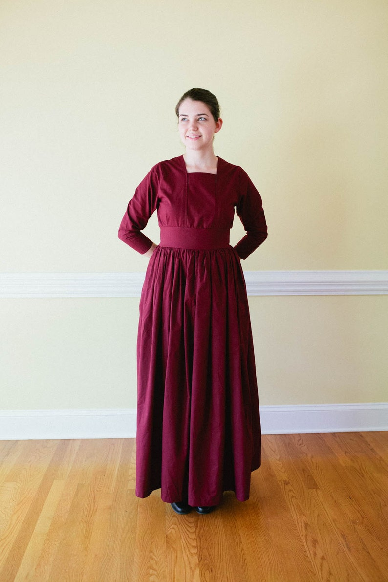 Old Fashioned Dresses | Old Dress Styles Tea Dress - long dress Edwardian dress - Prairie Dress - Made to Measure pioneer Dress - nursing access reenactment dr $80.00 AT vintagedancer.com