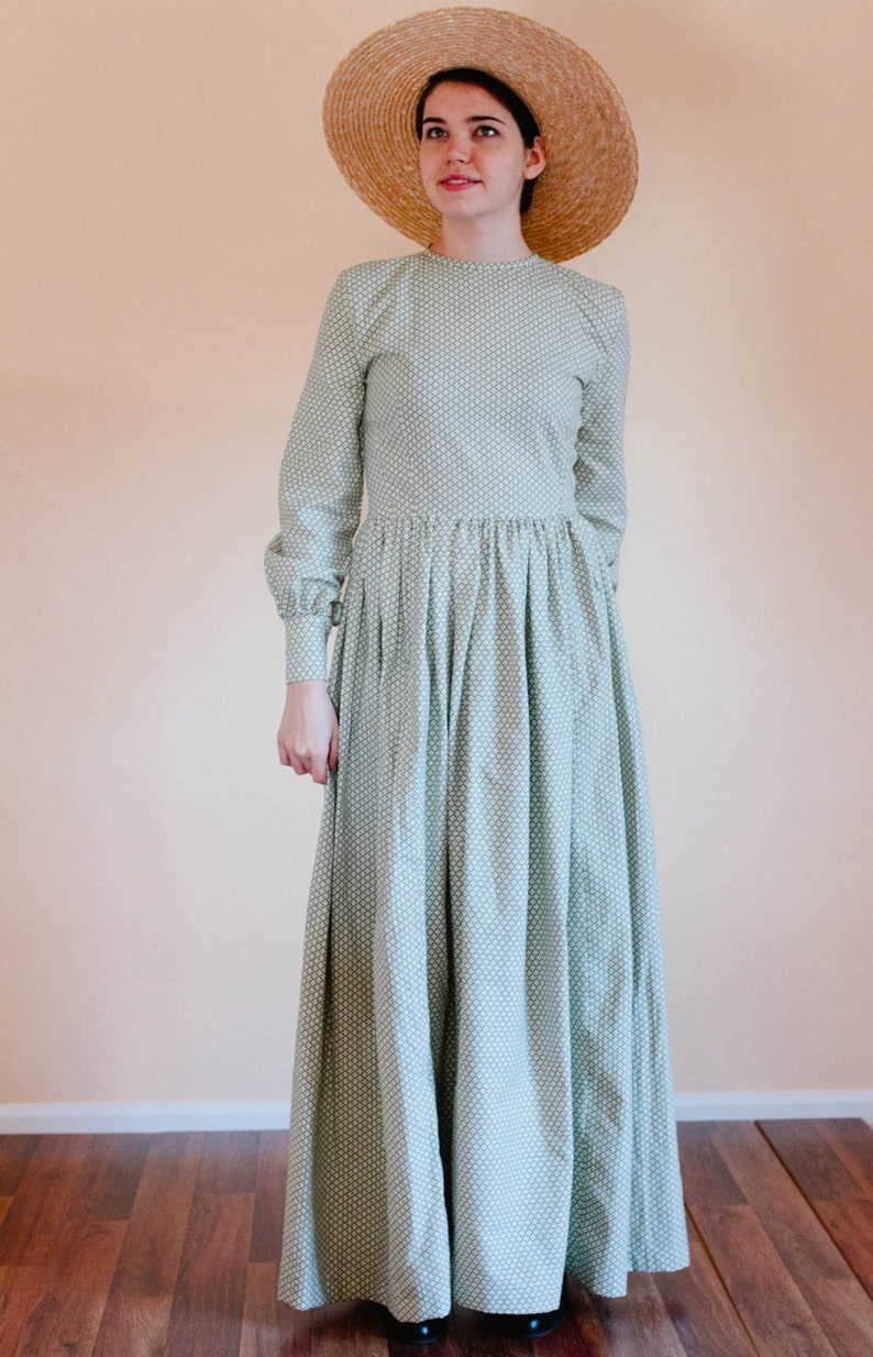 Cottagecore Dresses Aesthetic, Granny, Vintage Plain Dress - Back Zip dress - Prairie Dress - Made to Measure Dress - Regency dress Mennonite dress reenactment dress $90.00 AT vintagedancer.com