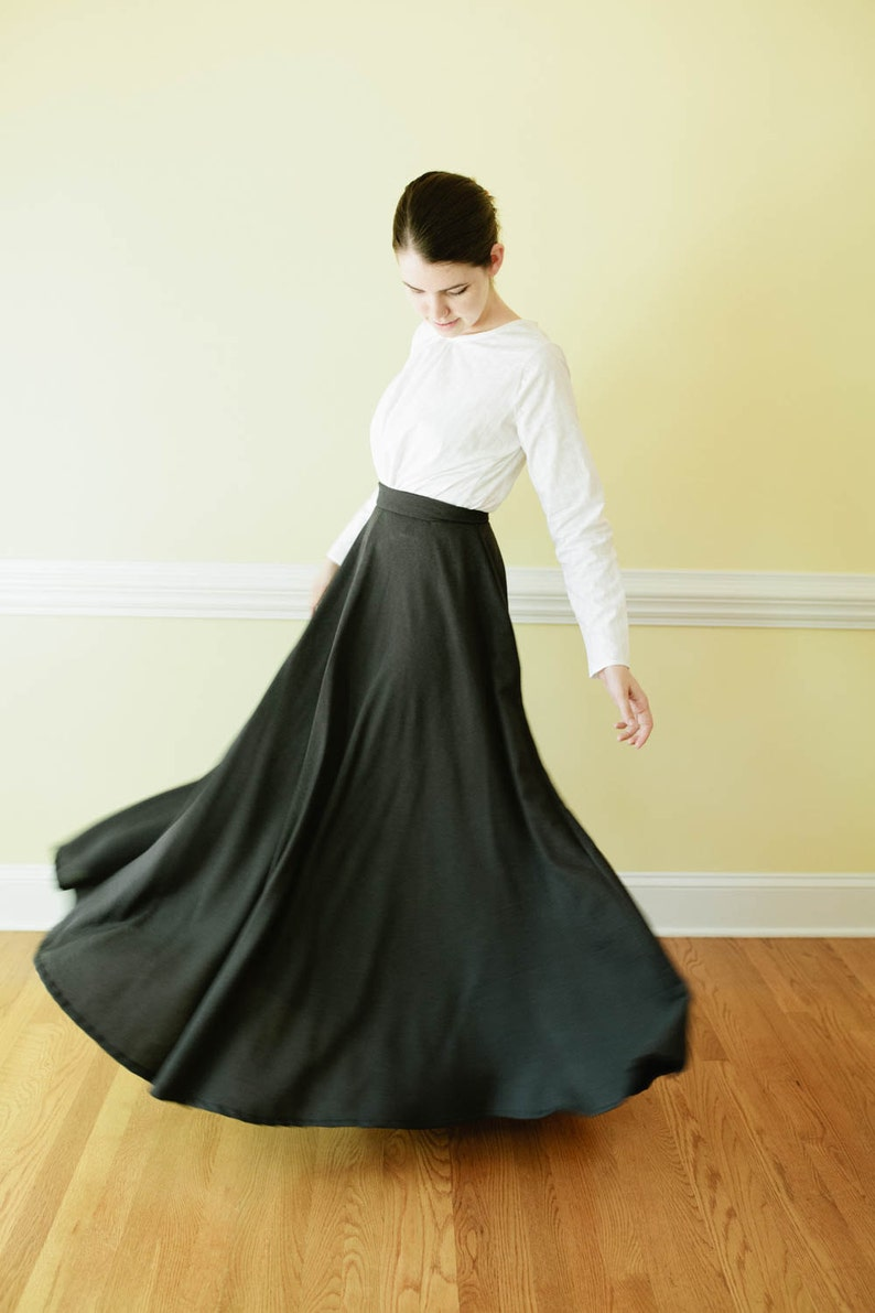 Cottagecore Clothing, Soft Aesthetic Long Skirt - long edwardian skirt Made to Measure Pioneer Skirt Mennonite all sizes available skirt Prairie skirt long ski $100.00 AT vintagedancer.com