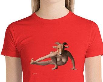 Goat Yoga Short sleeve women's t-shirt