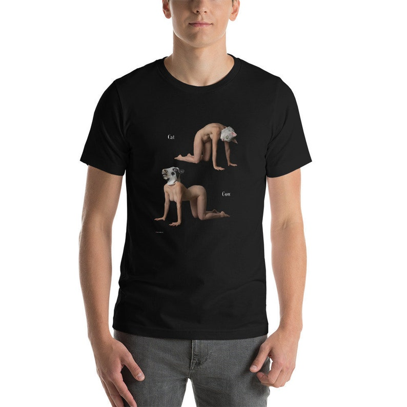 Cat / Cow Short-Sleeve Unisex T-Shirt image 0
