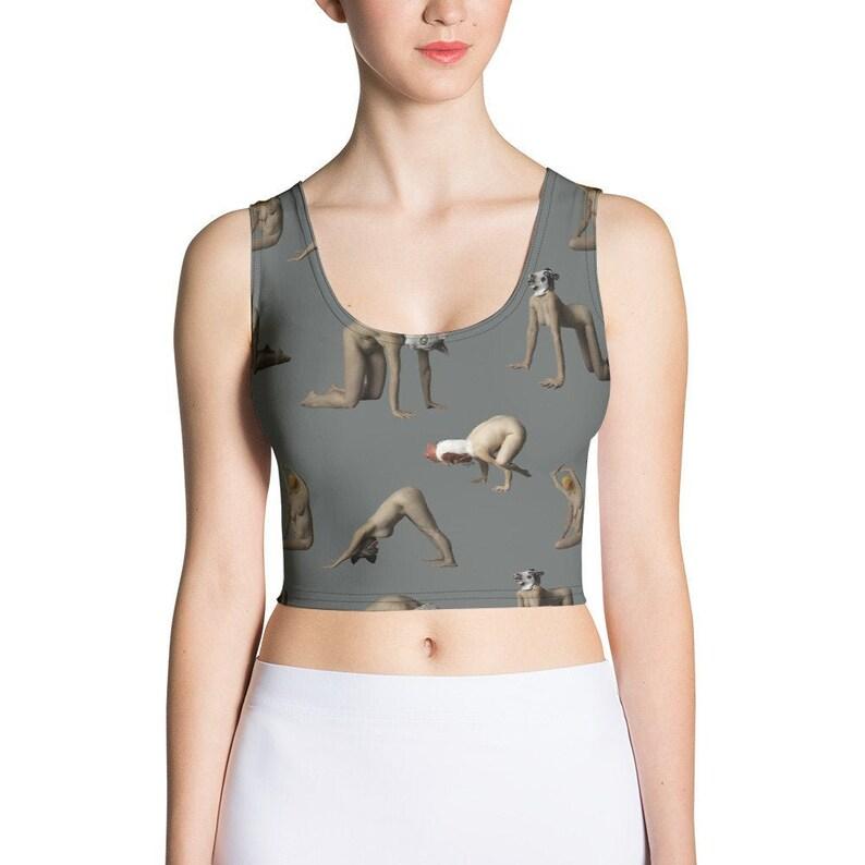 Animal Yoga  Crop Top Grey image 0