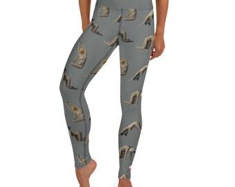 Amimal Head Yoga Leggings - Grey