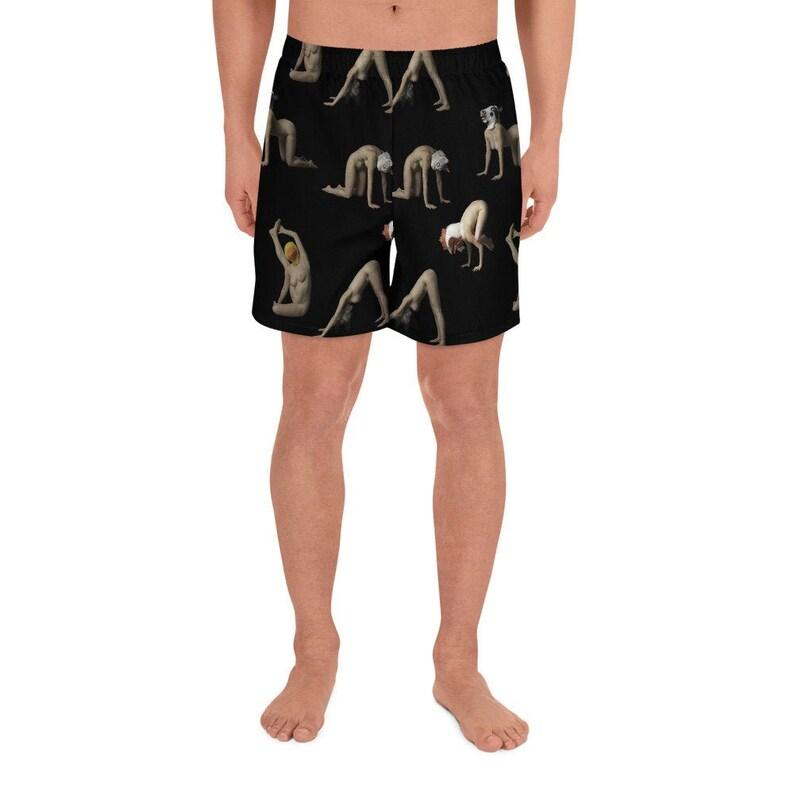 Animal Head Men's Athletic Long Yoga Shorts image 0